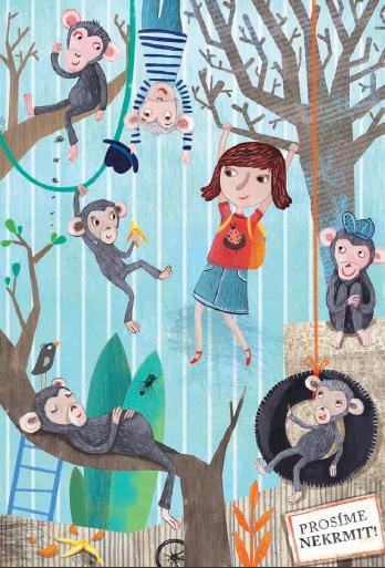 Neposlušná Alenka v kleci s opicemi