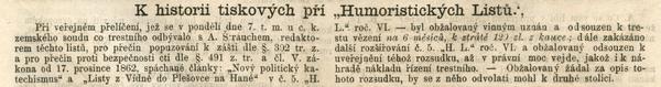 Znění rozsudku nad odpovědným redaktorem Antonínem Štrauchem