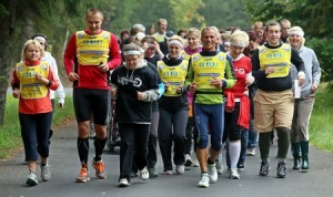 Hazlov-Pata, 26.9.2013, Miloš Škorpil, ultramaratonec bìží z Aše