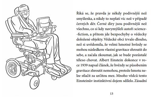 Stephen Hawking_Cerne diry_ukazka