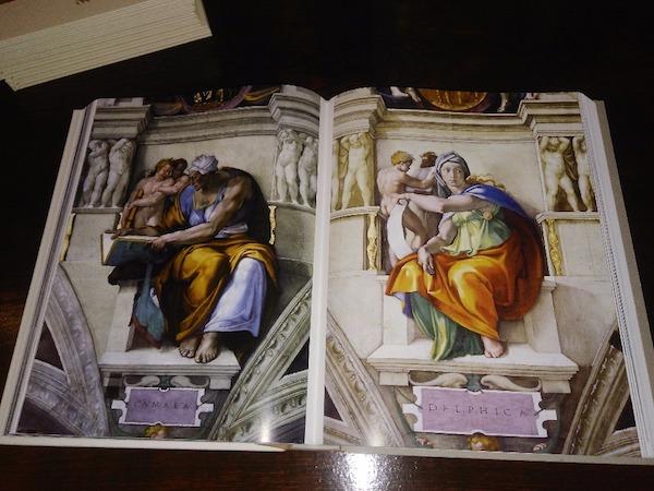 Sibyla Cumaenská a Sybila Delfská z Posledního soudu, Sixtinská kaple