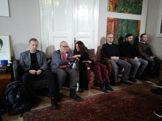 zleva: Martin Vopěnka, Aleš Palán, Václava Jandečková, Lukáš Kuta, Daniel Petr, Tomáš Boukal