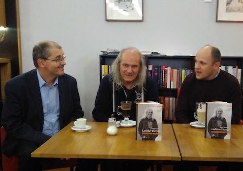 Zleva: Pravomil Novák, Josef Beránek, Ladislav Heryán