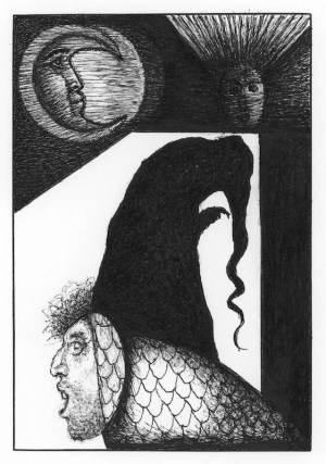 Zrcadlo Serafina - ilustrace - 1