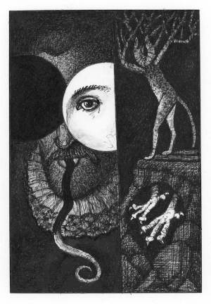 Zrcadlo Serafina - ilustrace - 2