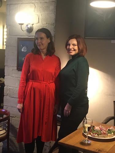Karin Lednická a Alena Mornštajnová
